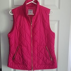 Old Navy Quilted Vest - Bright Pink